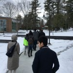 Cobb Hu on tour of Babson College