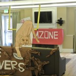 Students decorate their main area - homecoming was that weekend