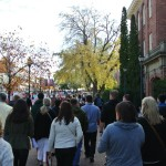 Start of classes on campus - gets crowded