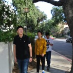 Steven, Corey and Peter walking the Pomona College campus