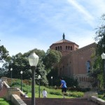Janss Steps and Powell Library