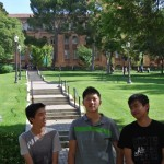 Corey, Steven and Peter - rest time on UCLA Campus