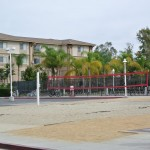 Their own beach volleyball and swimming pool